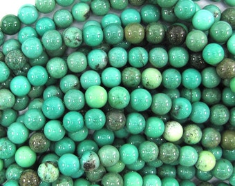 "6mm green chrysoprase round beads 15.5"" strand S1 32064"
