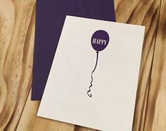 Happy Letterpress Card
