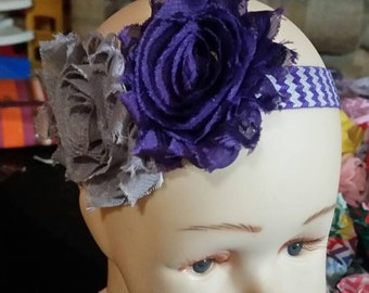 Purple and grey flower with chevron band