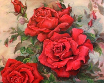 Red powers roses