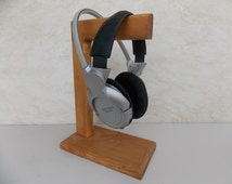 Modern Wood Headphone Stand, Modern Wood Decor, Handmade, Gift Idea, Home Decor, For him, Inexpensive Gift