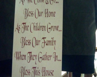 Bless our home sign.
