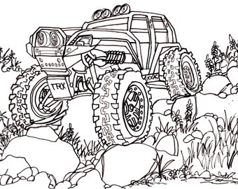 Traxxas Summit Trail Truck Drawing 4x4 RC Crawler Car