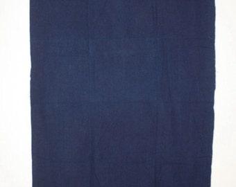 Japanese antique old natural Indigo dye cotton Slightly thick  fabric meiji era(1868-1910)