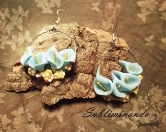 Calla Circle Hoop earrings with calle