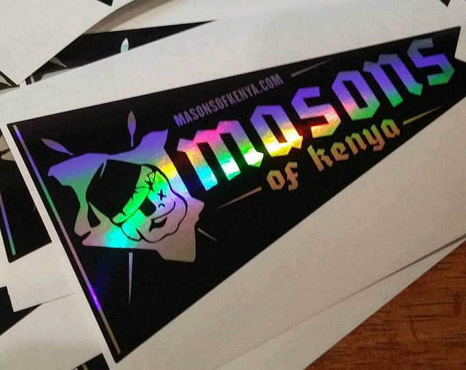 Holographic Pennant Sticker