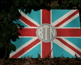 Flag Monogram Painting