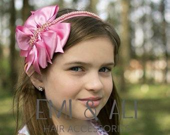 3 Satin Bows Headband