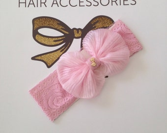 Organza Bow Baby band