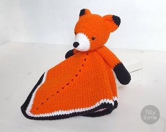 Little Fox Lovey Pattern | Security Blanket | Crochet Lovey | Baby Lovey Toy | Blanket Toy | Lovey Blanket PDF Crochet Pattern