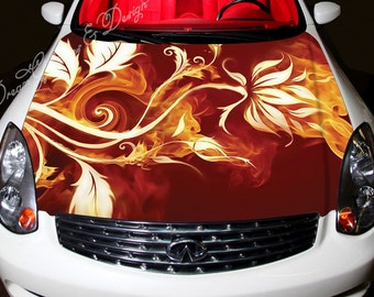 Car Bonnet Decal Etsy - Vinyl stickers designabstract full color graphics adhesive vinyl sticker fit any car