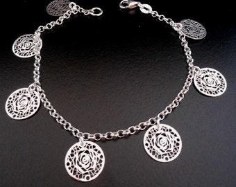Bracelet camelia in Silver 925/1000