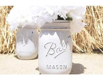 Distressed Mason Jar with Matte or Glossy Finish