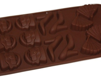 Taavi Girls Night Out Silicone Mold (Candy, Chocolate, Ice Cubes, Finger Jello, Butter) (T809)