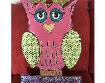 Owl Wooden Door Hanger