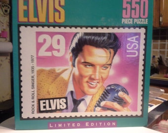 1992 limited edition 550 piece elvis presley puzzle,unsealed.