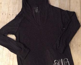 Monogram hooded t-shirt