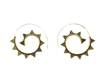 Brass Triangle Spirals #66