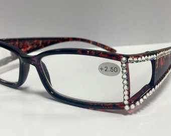 Swarovski crystal Reading glasses +2.50