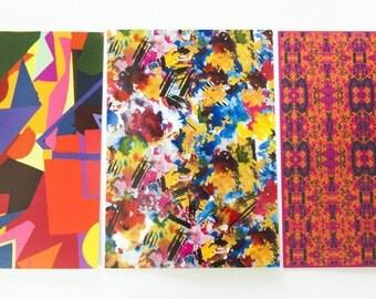 Set of 6 Printed Notecards