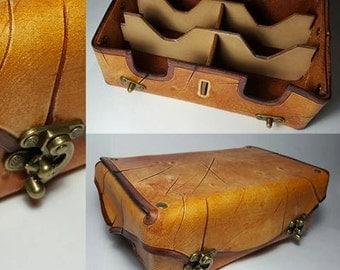 Handmade Leather Craft Magic: The Gathering Deck Box - 6 Decks