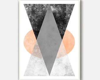 Minimalist Art,Modern Wall Art,Minimal Art,Triangle Print,Geometric Art Print,Scandinavian Design,Abstract Wall Art, Geometric Print