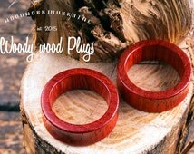 Ear tunnels - wooden tunnels - organic tunnels - natural tunnels - ear plugs - paducah wooden plugs