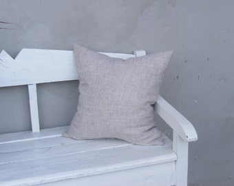 Natural Linen Pillow Cover / Throw Pillow Cover / Pillow Sham