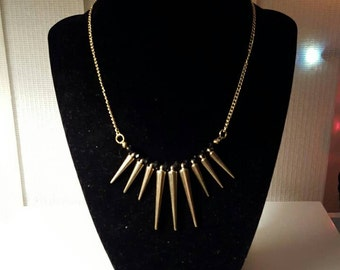 Golden Spiked Necklace