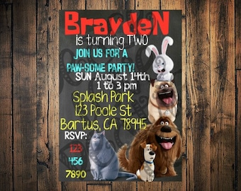 PRINTABLE Secret Life of Pets Birthday Invitation