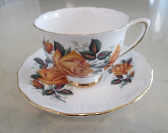 Colclough Floral Tea Cup and Saucer