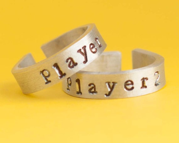 player 1 player 2 ring gamer gamer by pimpyourgeek
