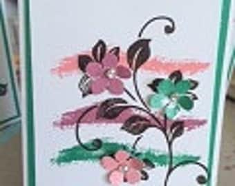 Flower Vine Card