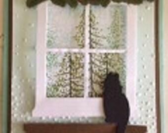 Winter Window Kitty Card