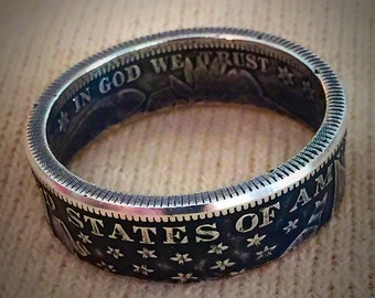 Barber Silver Half Dollar Ring