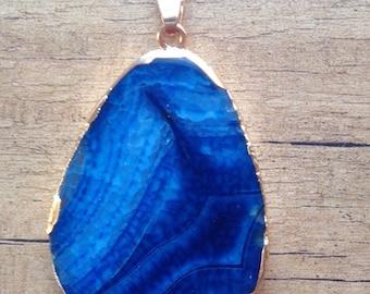 Crystal Quartz Pendant - Blue