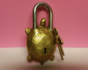 Brass lock and keys