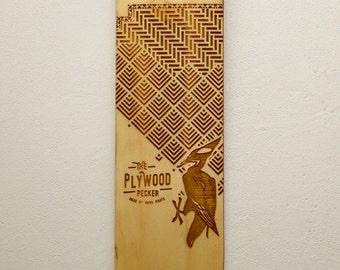 Laser engraved skateboard 75x18cm