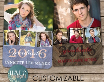 Graduation announcement & invitation - printable card