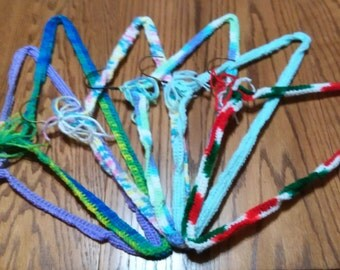 Crochet covered hangers