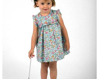 Girls spring floral dress