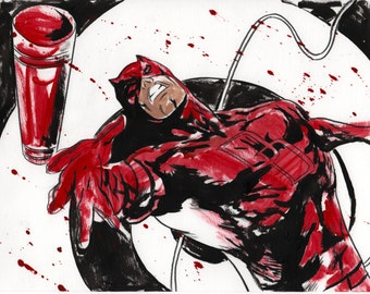 daredevil marvel super hero comic art