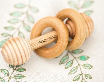 Miniature Organic Wooden Rattle