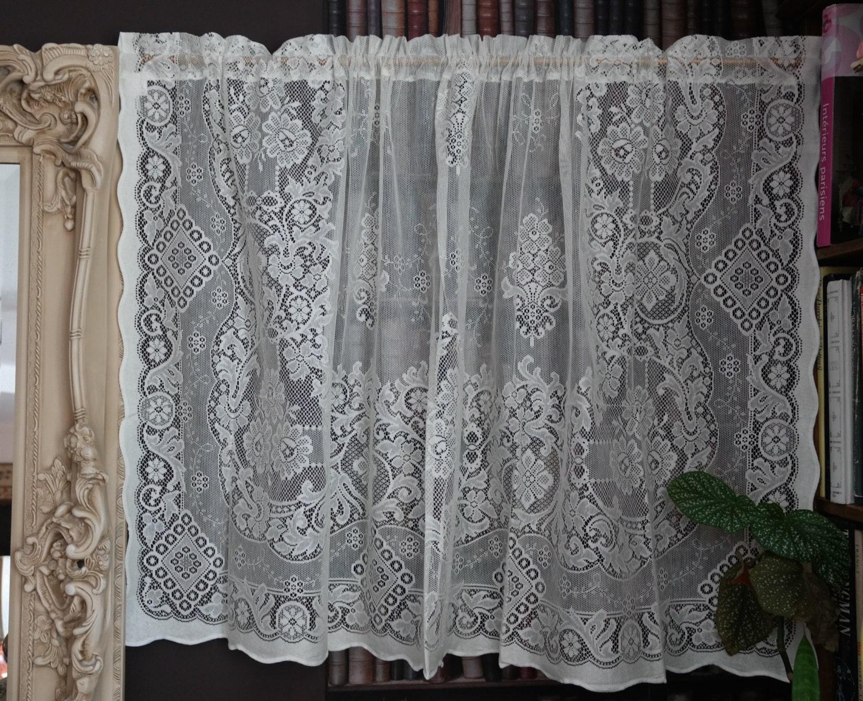 Beautiful victorian design cotton lace curtain panel 58 for Window cotton design