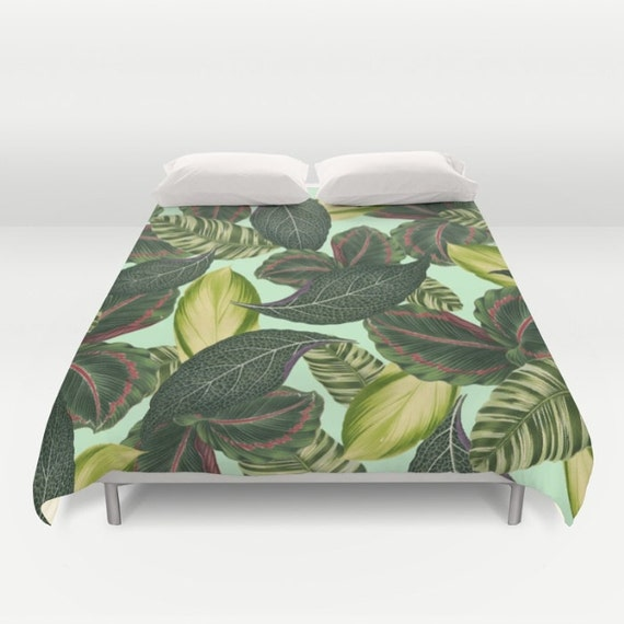Tropical Duvet Cover Full Queen King Duvet By Olaholaholababy