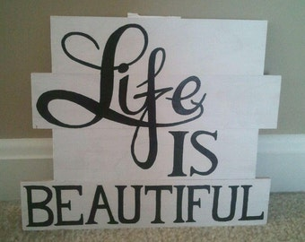 Life is Beautiful wall hanging