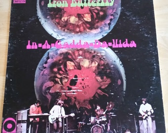 Iron Butterfly - In-A-Gadda-Da-Vida - SD 33-250 - 1968 - Yellow Center ATCO Reissue - Presswell (PR) Pressing - Vg+