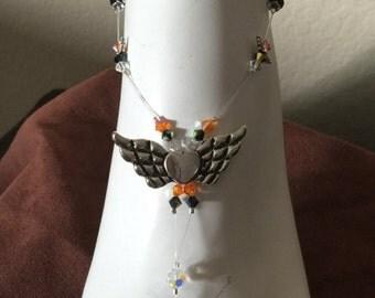 Swarovski Crystal Sweet Feet Flip Flop Barefoot Bling Foot Jewelry