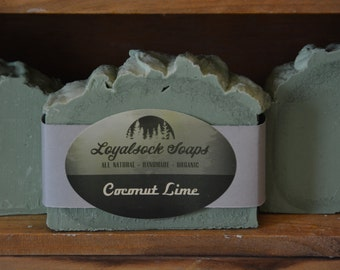 Coconut Lime Soap - organic, handmade, all natural, cold process