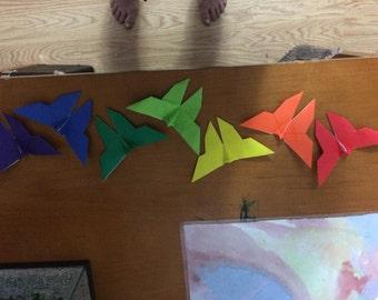 lot of 10 origami butterflies